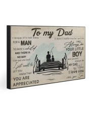 TO MY DAD - FISHING- MB314 30x20 Gallery Wrapped Canvas Prints front
