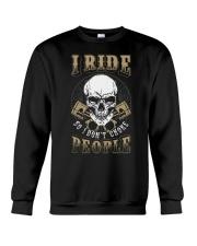 I RIDE SO I DON'T CHOKE PEOPLE - MB329 Crewneck Sweatshirt thumbnail