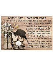 WHEN I SAY I LOVE YOU MORE Horizontal Poster tile