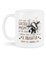 LUCKIEST MOM Mug back