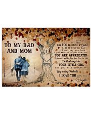 TO MY MOM AND DAD  17x11 Poster thumbnail
