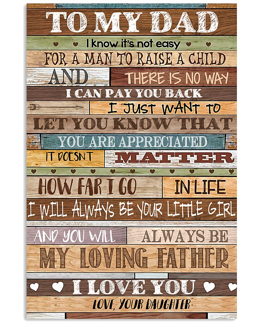 TO MY DAD - MB159 11x17 Poster