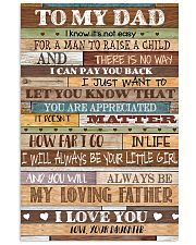 TO MY DAD - MB159 11x17 Poster front