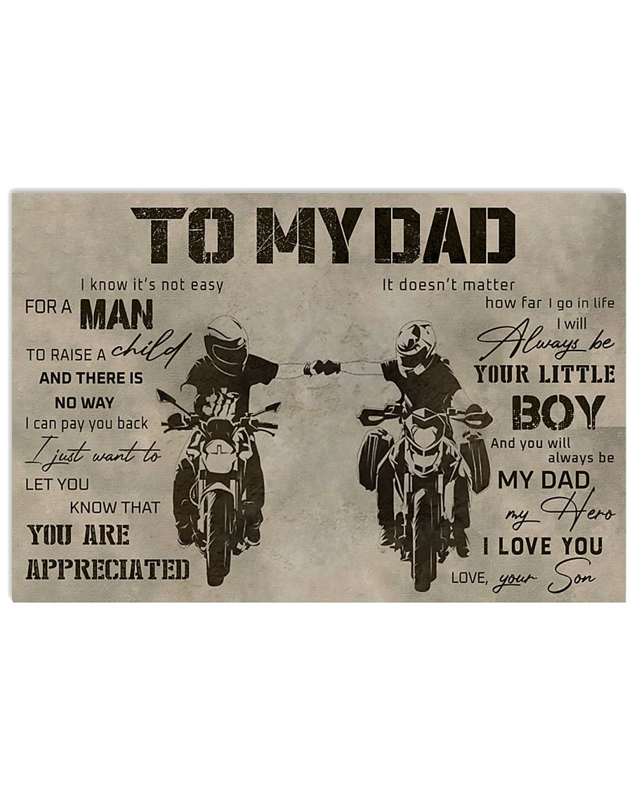 TO MY DAD - DIRTBIKE - MB295 36x24 Poster