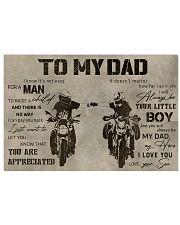 TO MY DAD - DIRTBIKE - MB295 36x24 Poster front