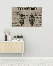 TO MY DAD - DIRTBIKE - MB295 36x24 Poster poster-landscape-36x24-lifestyle-01