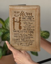 TO MY MOM   Medium - Leather Notebook aos-medium-leather-notebook-lifestyle-front-03