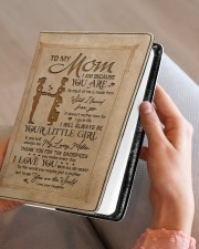 TO MY MOM   Medium - Leather Notebook aos-medium-leather-notebook-lifestyle-front-05