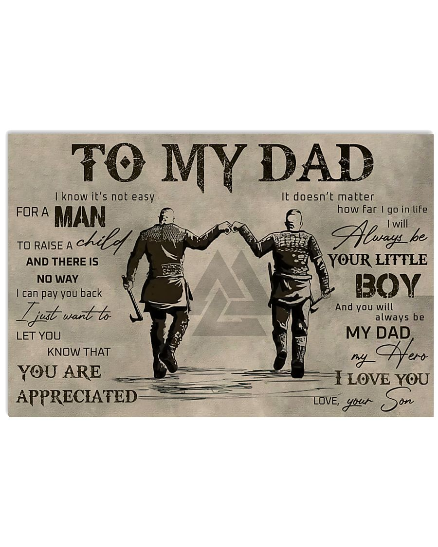 TO MY VIKING DAD - MB311 36x24 Poster