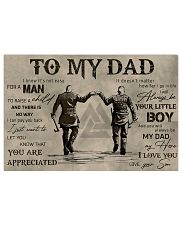 TO MY VIKING DAD - MB311 36x24 Poster front