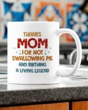 THANKS FOR NOT SWALLOWING ME  Mug ceramic-mug-lifestyle-57