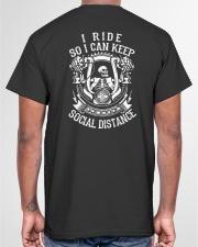 I RIDE SO I CAN KEEP SOCIAL DISTANCE - MB248 Classic T-Shirt garment-tshirt-unisex-back-04