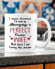 HERE I AM LIVING THE DREAM  Mug ceramic-mug-lifestyle-57