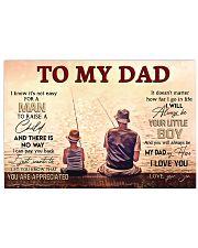 TO MY DAD - FISHING Horizontal Poster tile