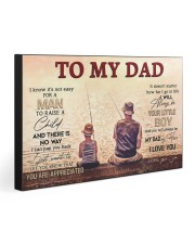TO MY DAD - FISHING 30x20 Gallery Wrapped Canvas Prints front