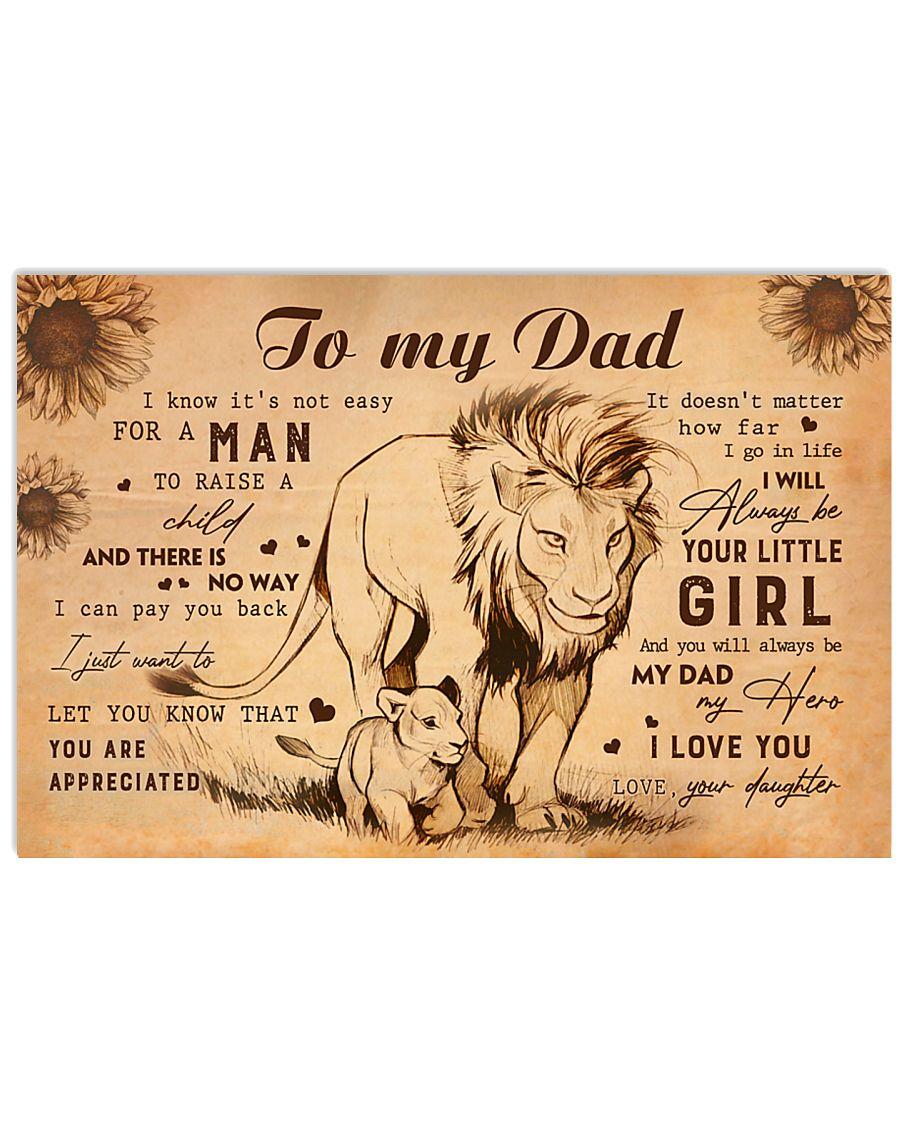 TO MY DAD - MB189 24x16 Poster