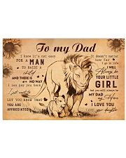 TO MY DAD - MB189 24x16 Poster front