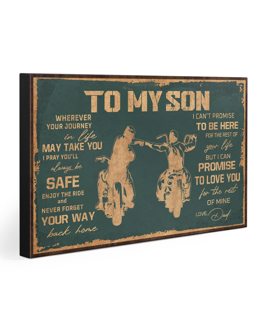 TO MY SON  30x20 Gallery Wrapped Canvas Prints