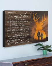 TO MY MOM - HUNTING  30x20 Gallery Wrapped Canvas Prints aos-canvas-pgw-30x20-lifestyle-front-01