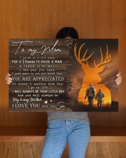 TO MY MOM - HUNTING  30x20 Gallery Wrapped Canvas Prints aos-canvas-pgw-30x20-lifestyle-front-22