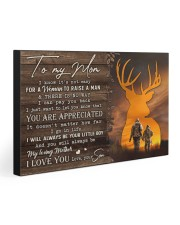 TO MY MOM - HUNTING  30x20 Gallery Wrapped Canvas Prints front