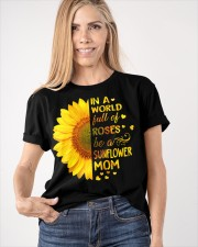 BE A SUNFLOWER MOM  Classic T-Shirt apparel-classic-tshirt-lifestyle-front-100