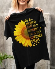 BE A SUNFLOWER MOM  Classic T-Shirt apparel-classic-tshirt-lifestyle-front-117