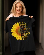 BE A SUNFLOWER MOM  Classic T-Shirt apparel-classic-tshirt-lifestyle-front-118
