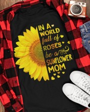 BE A SUNFLOWER MOM  Classic T-Shirt apparel-classic-tshirt-lifestyle-front-163
