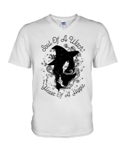 SOUL OF A WITCH HEART OF A HIPPIE V-Neck T-Shirt thumbnail