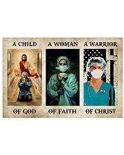 NURSE - A WARRIOR OF CHRIST Horizontal Poster tile