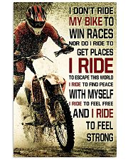 I DON'T RIDE MY BIKE TO WIN RACES Vertical Poster tile