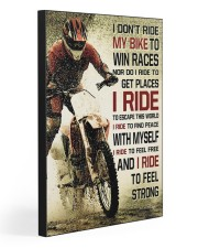 I DON'T RIDE MY BIKE TO WIN RACES 20x30 Gallery Wrapped Canvas Prints front