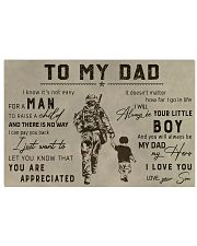 TO MY VETERAN DAD - MB313 36x24 Poster front