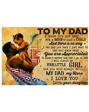 TO MY DAD - MB243 24x16 Poster front