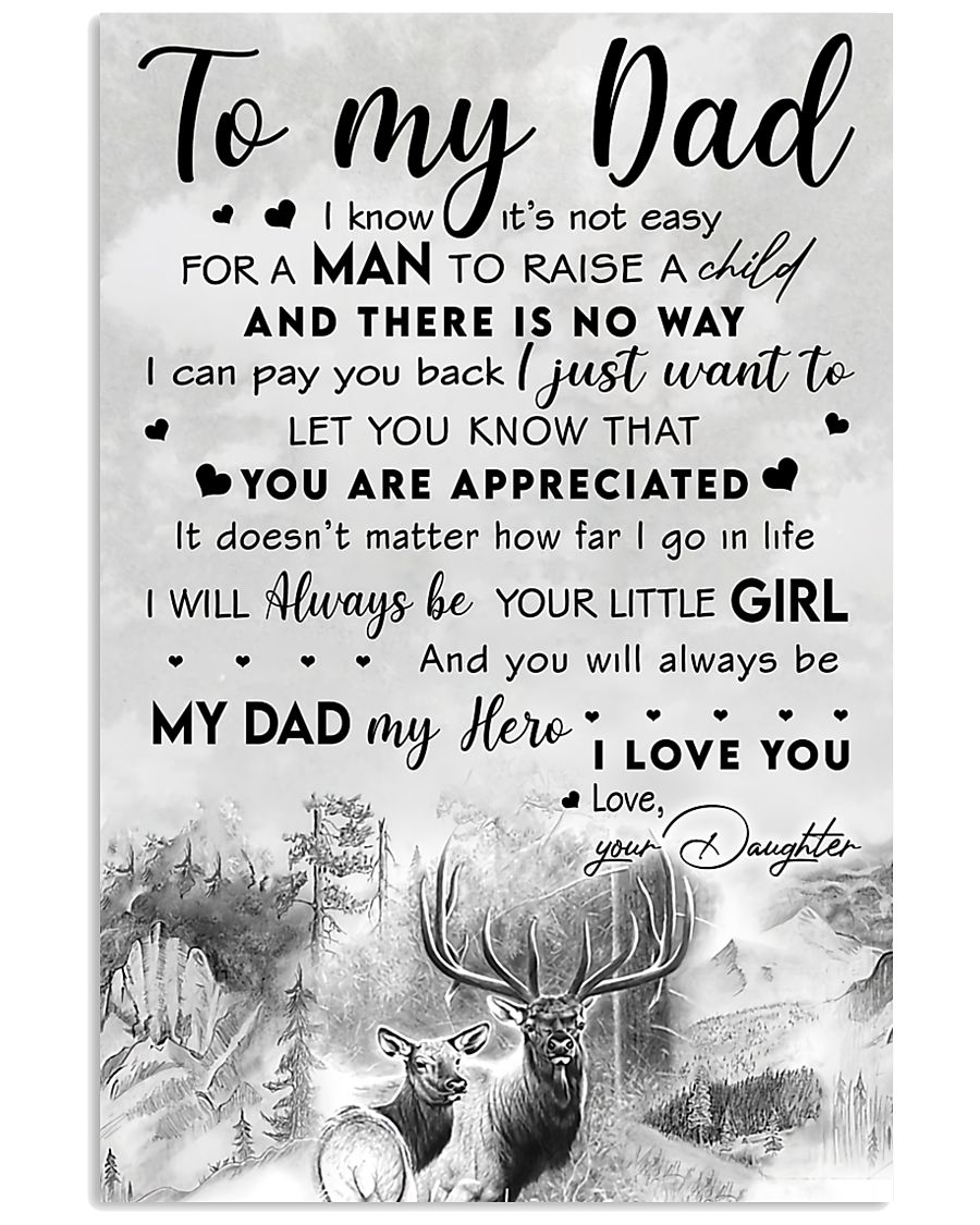TO MY DAD - MB277 11x17 Poster
