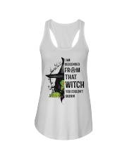 I AM DESCENDED FROM THAT WITCH Ladies Flowy Tank thumbnail