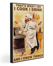 I COOK I DRINK AND I KNOW THINGS 20x30 Gallery Wrapped Canvas Prints front