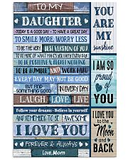 TO MY DAUGHTER - MB330 16x24 Poster front