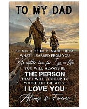 TO MY DAD - HUNTING  Vertical Poster tile