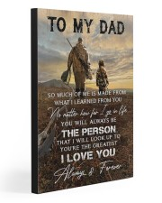 TO MY DAD - HUNTING  20x30 Gallery Wrapped Canvas Prints front
