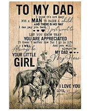 TO MY DAD - MB273 11x17 Poster front