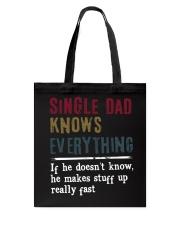 SINGE DAD KNOWS EVERYTHING - MB225 Tote Bag thumbnail