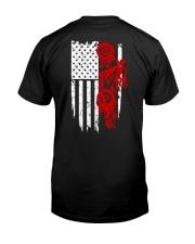 BIKE AMERICAN FLAG - MB244 Classic T-Shirt back