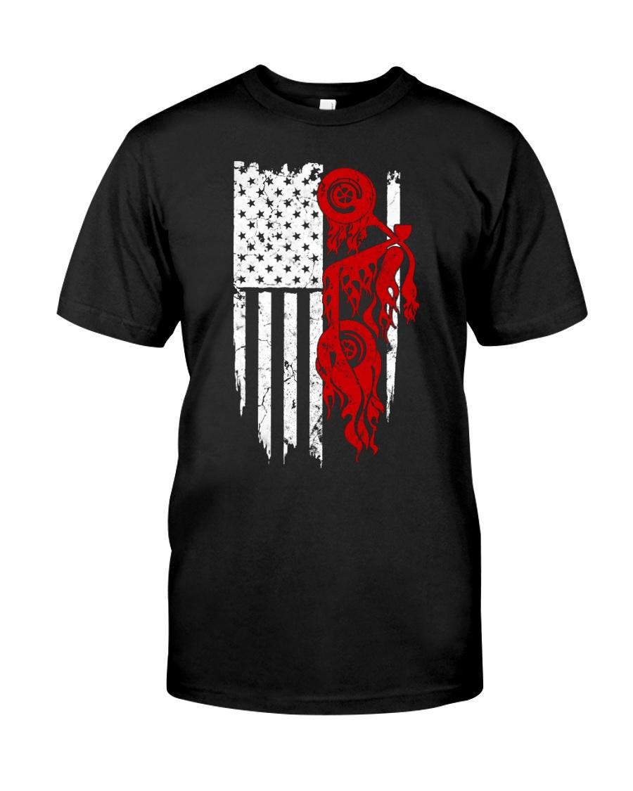 BIKE AMERICAN FLAG - MB244 Classic T-Shirt