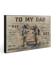 TO MY DAD - FIREFIGHTER  30x20 Gallery Wrapped Canvas Prints front