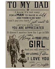 TO MY DAD - MB281 11x17 Poster front