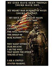 I AM A US MARINE  Vertical Poster tile