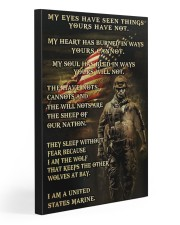 I AM A US MARINE  20x30 Gallery Wrapped Canvas Prints front