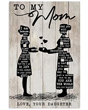 TO MY MOM - NURSE Vertical Poster tile
